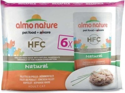 Pack de 6 Patés ALM NATURE HFC Classic para gato Adulto - 3 sabores