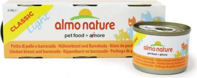3x Almo Nature Light Pasteten für Katzen - verschiedene Geschmacksrichtungen