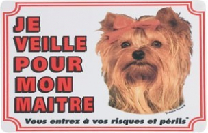 Panneau chien Yorkshire Terrier