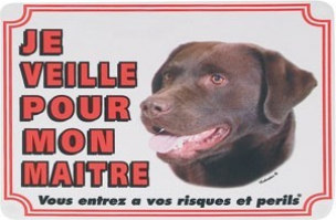 Panneau chien Labrador brun