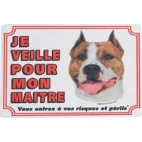 Panneau chien Staffordshire Terrier