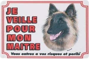 Panneau chien Tervuren