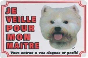 Panneau chien Westie