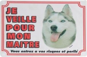 Panneau chien Husky