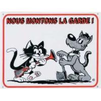 Panneau dessin chien et chat