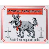 Panneau dessin chien