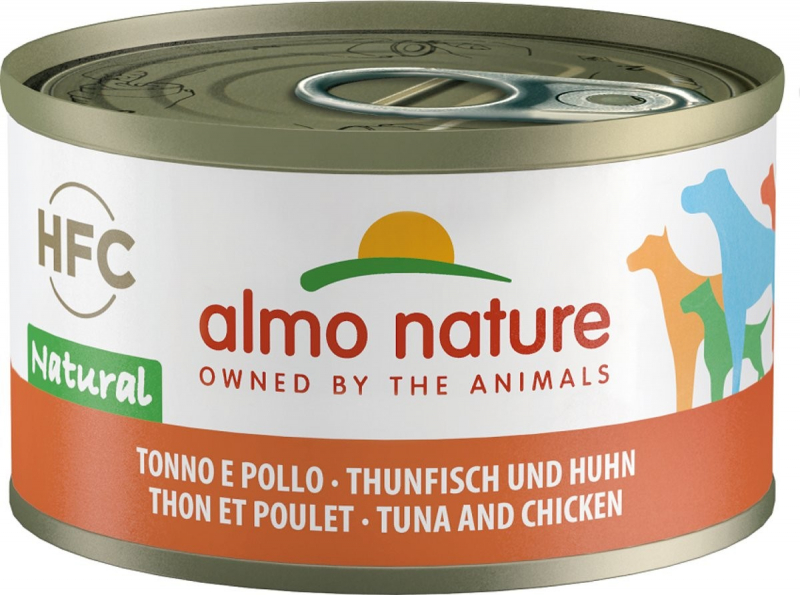 Patè ALMO NATURE HFC 95g per cani adulti - 5 gusti a scelta