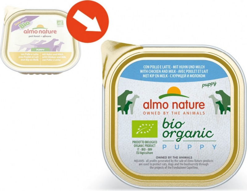 Paté Almo Nature Daily Menu Bio Puppy - Cachorro