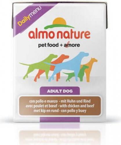 p t e almo nature daily menu pour chien adulte diff rentes saveurs en tetra pak 375g. Black Bedroom Furniture Sets. Home Design Ideas