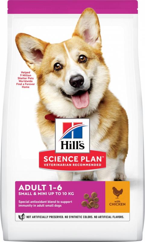 Hill's Canine Adult Small & Mini, met kip