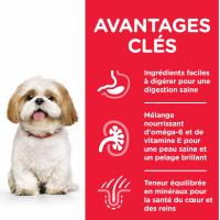 Hill's Science Plan Canine Mature Adult 7+ Small & Mini croquettes pour chien senior de petite taille au poulet