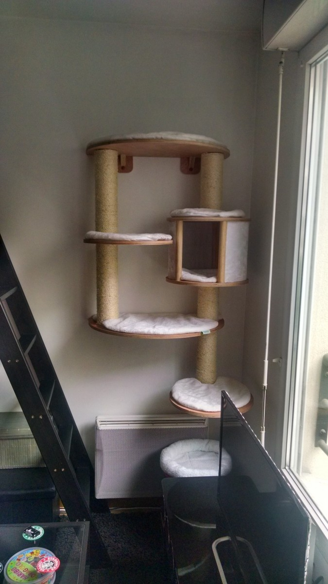 Arbre A Chat Mural Design reviews about dolomit pro wall-mounted scratching post system