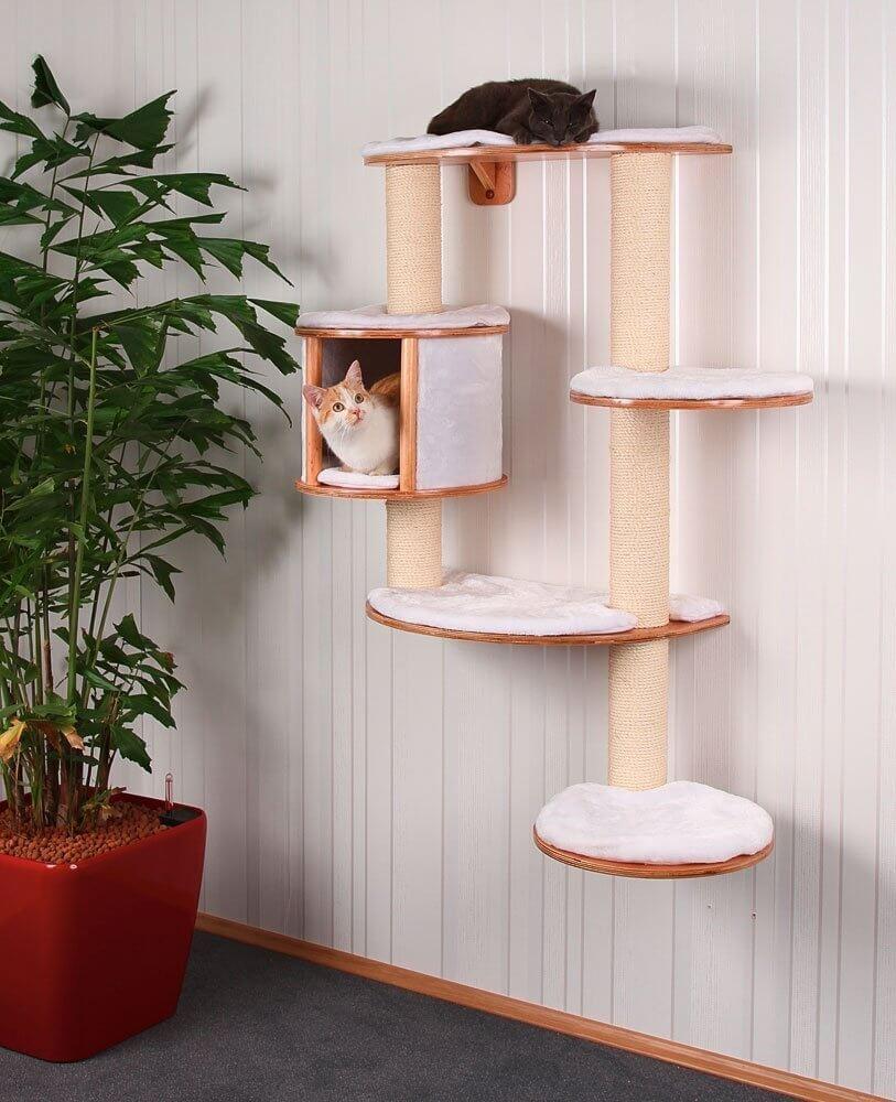 arbre chat avec griffoir design ou g ant. Black Bedroom Furniture Sets. Home Design Ideas