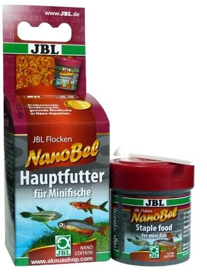Jbl nano bel main food flakes for small fish in nano for Flocon poisson