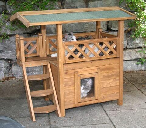 maisonnette pour chat lodge. Black Bedroom Furniture Sets. Home Design Ideas
