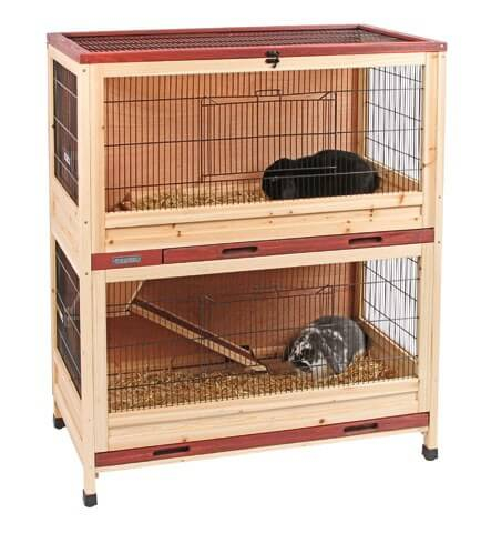 cage lapin int rieur deux niveaux 100 cm cage lapin. Black Bedroom Furniture Sets. Home Design Ideas