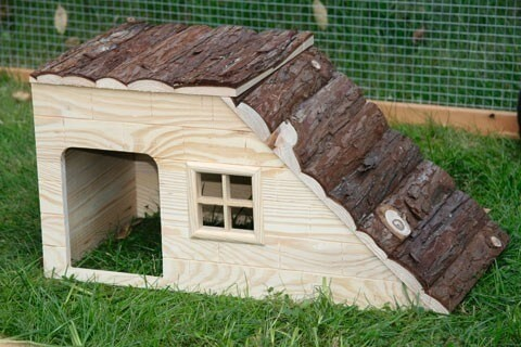 Maison pour rongeurs avec rampe