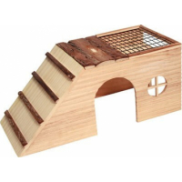 Pet Shelter with Ramp and Nature Corner