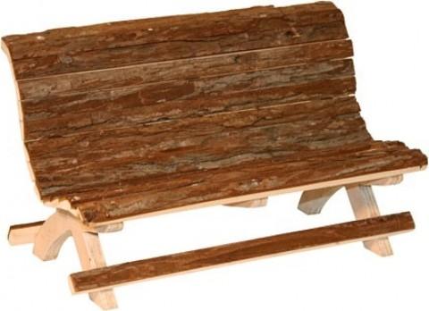 Banc en bois pour rongeur