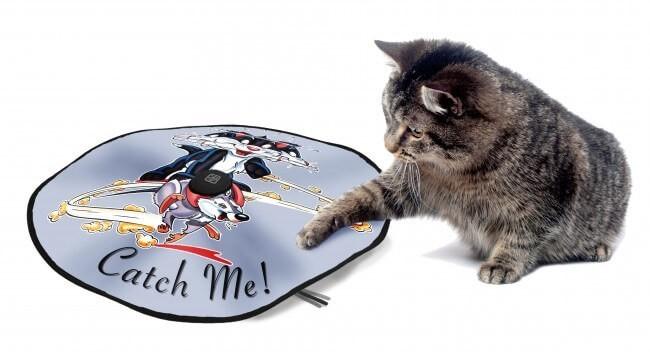 tapis de jeu lectrique pour chat jouet pour chat. Black Bedroom Furniture Sets. Home Design Ideas