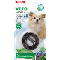 VETOpure, collier répulsif antiparasitaire réfléchissant pour chien