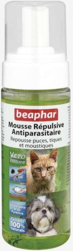 Mousse répulsive antiparasitaire pour chat et chaton