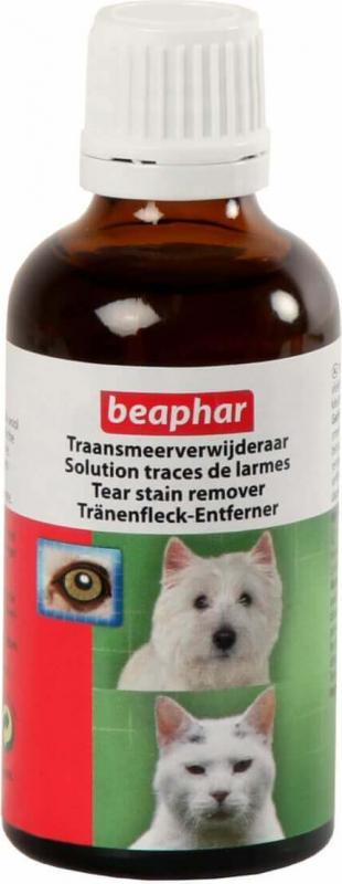 Solution contre les traces de larmes pour chien et chat