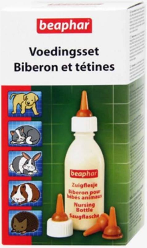 Pack biberon et tétines pour animaux bébés