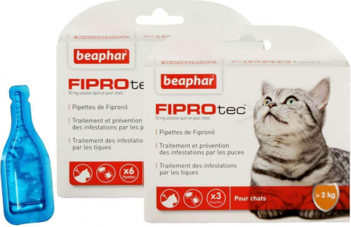 fiprotec spot on l sung f r katzen mit fipronil anti parasiten pipetten. Black Bedroom Furniture Sets. Home Design Ideas