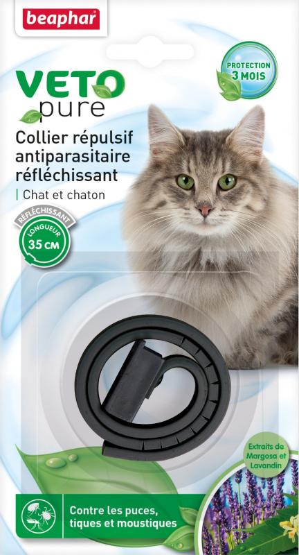 Collier anti puce chat anti etranglement