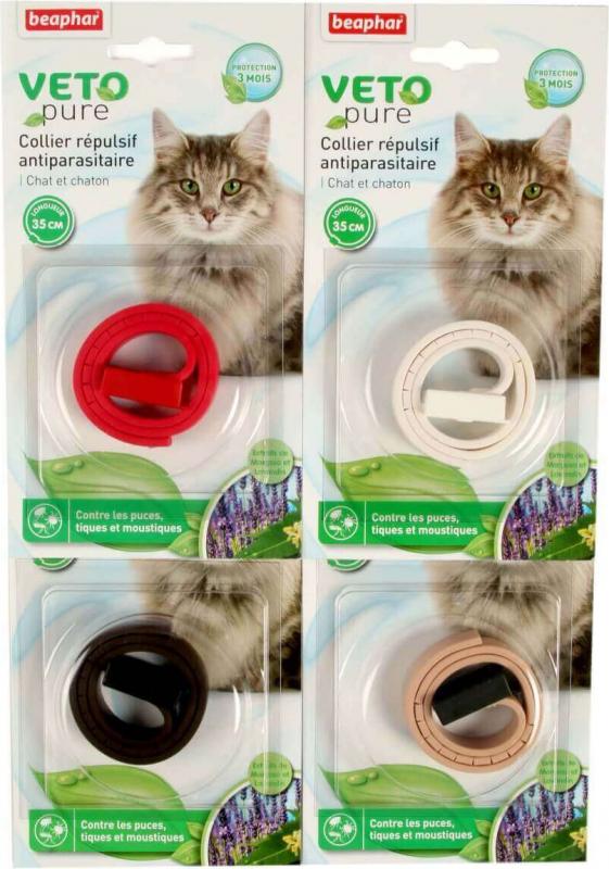 Collar insecticida para gato y gatito - sistema anti-estrangulamiento