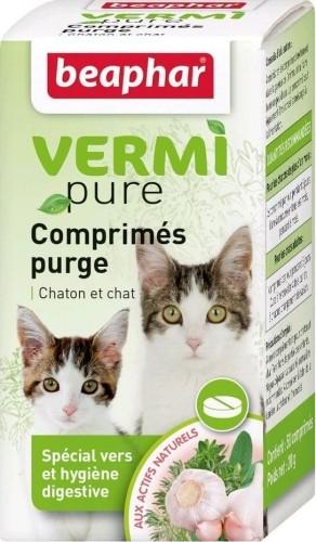 Pflanzlisches Abführmittel in Tablettenform für Katzen Vetonature