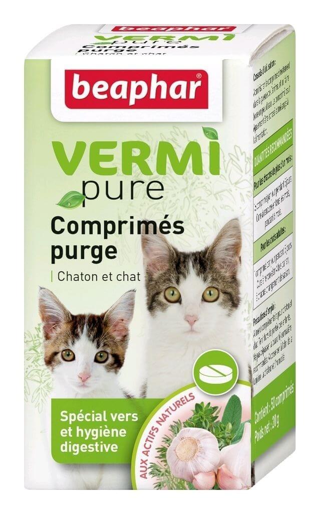 comprim s purge aux plantes pour chat vermipure compl ment alimentaire chat. Black Bedroom Furniture Sets. Home Design Ideas