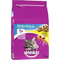 Whiskas 1+ pour Chats Adultes Stérilisés 1+ Poulet ou Saumon