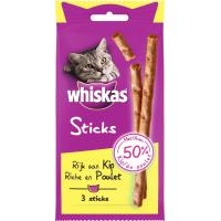 Friandises Whiskas Sticks pour chat adulte - 2 saveurs au choix