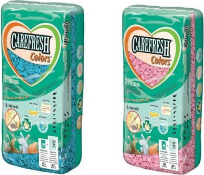 Litière Carefresh COLOR 10L bleu ou rose