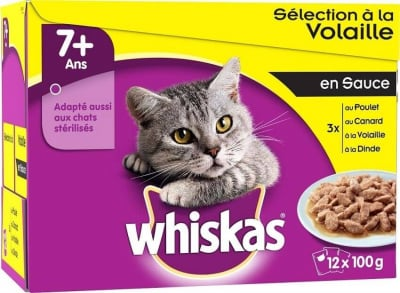 WHISKAS 2-12 Months Kitten Poultry Selection in Jelly