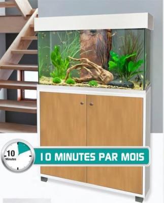 Kit accent aqua 95L+ meuble - Révolutionnaire 10min d'entretien par mois