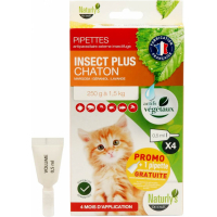 Pipettes antiparasitaire insecticides chaton