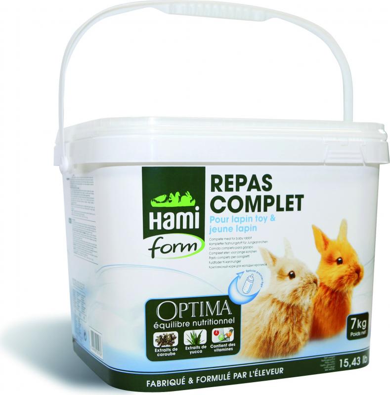 Hamiform Optima repas complet Lapin Toy et jeune Lapin