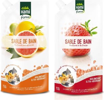 Hamiform Sable de Bain Fraise ou Agrumes pour rongeurs - 1kg