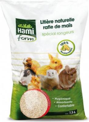 Litière naturelle rafle maïs 7,5 litres Rongeurs à la Fraise
