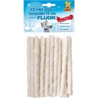 Mini sticks Torsadés FLUOR 13 cm sachet de 25 pièces