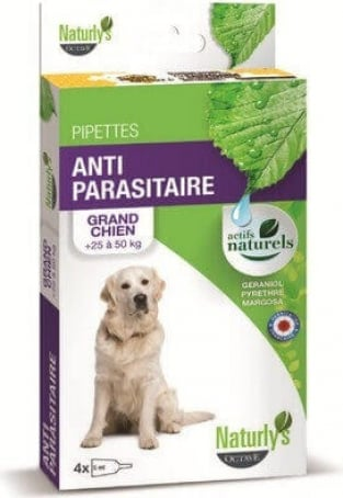 NATURLY'S Pipettes antiparasitaires insecticides du chiot au très grand chien
