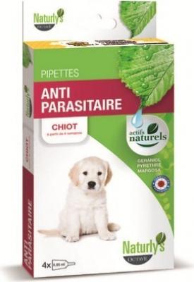 NATURLY'S Pipetas antiparasitaris e insecticidas para perros y cachorros de todas las tallas.