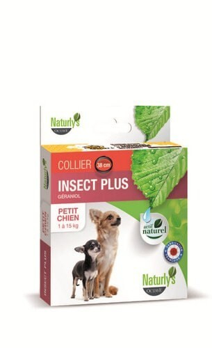 Collar antiparasitario insecticida para perro pequeño