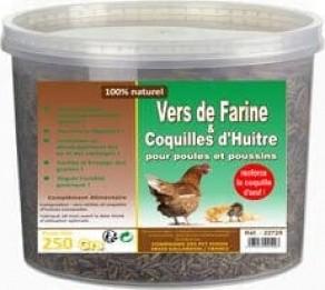 Vers de farine déshydratés pour volailles