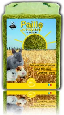 Paja natural cultivada en Provenza para utilizar como lecho