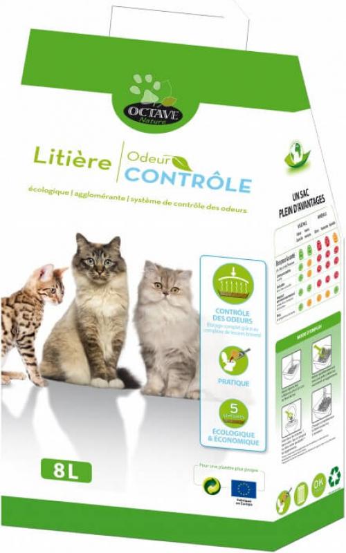 Einstreu Octave mit Geruchskontrolle und Anti*Klumpen-Formel, 100% natürlich und ökologisch