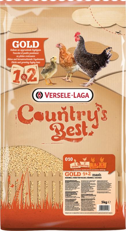 Gold 1&2 Mash Country's Best Kuikenmeel vanaf 1e dag tot 1e ei